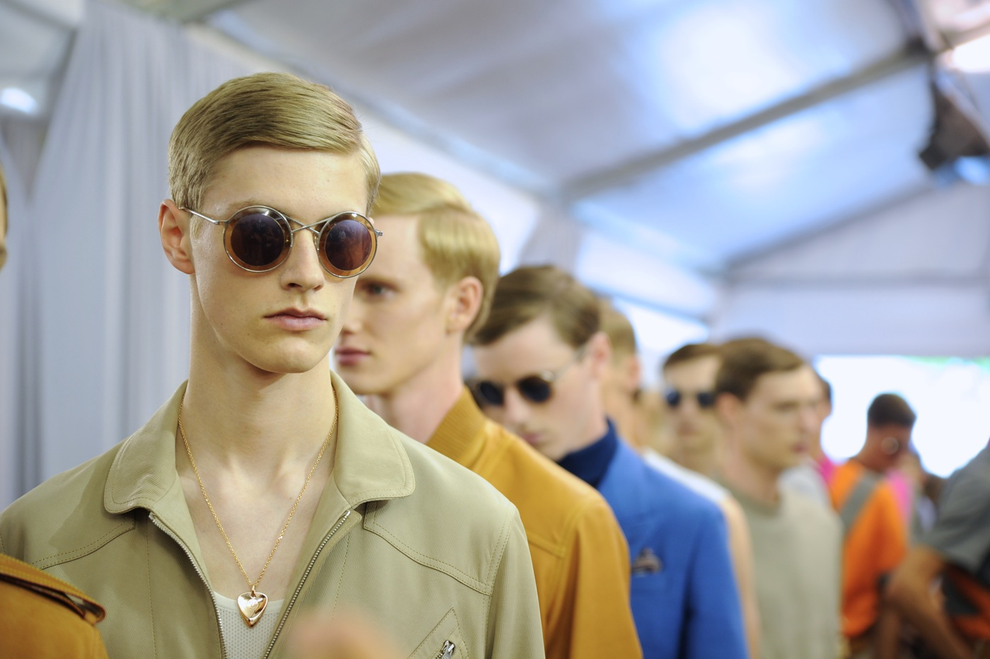 Backstage at the Louis Vuitton Menswear Spring 2015 Show 32