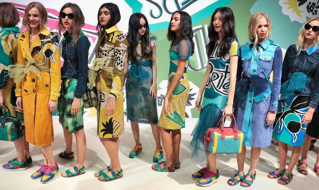 Backstage at the Burberry Prorsum Spring 2015 Show 6
