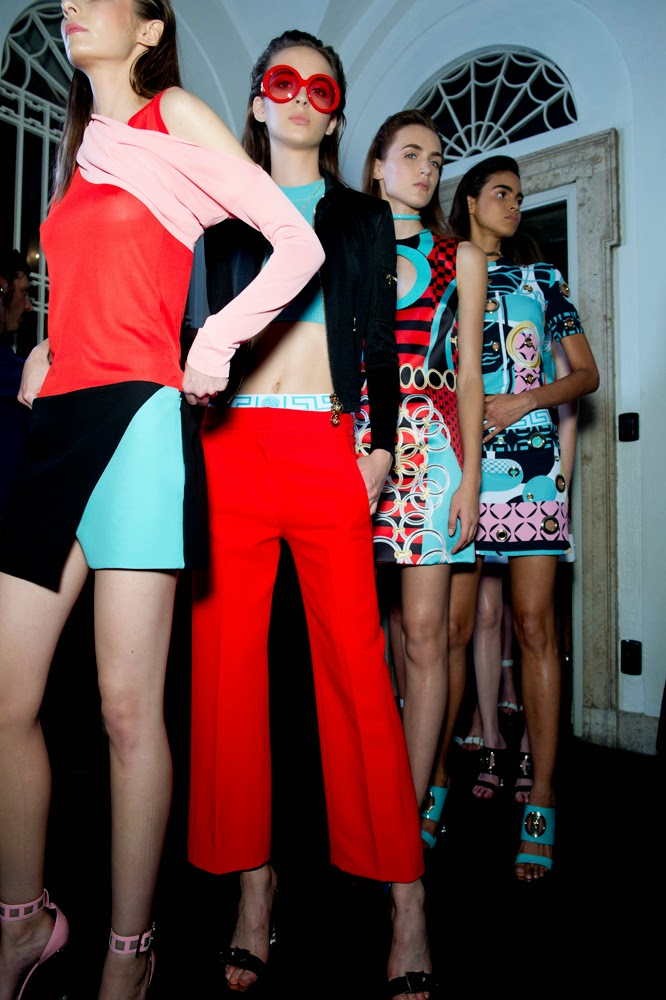 Backstage at the Versace Spring Summer 2015 Show 13