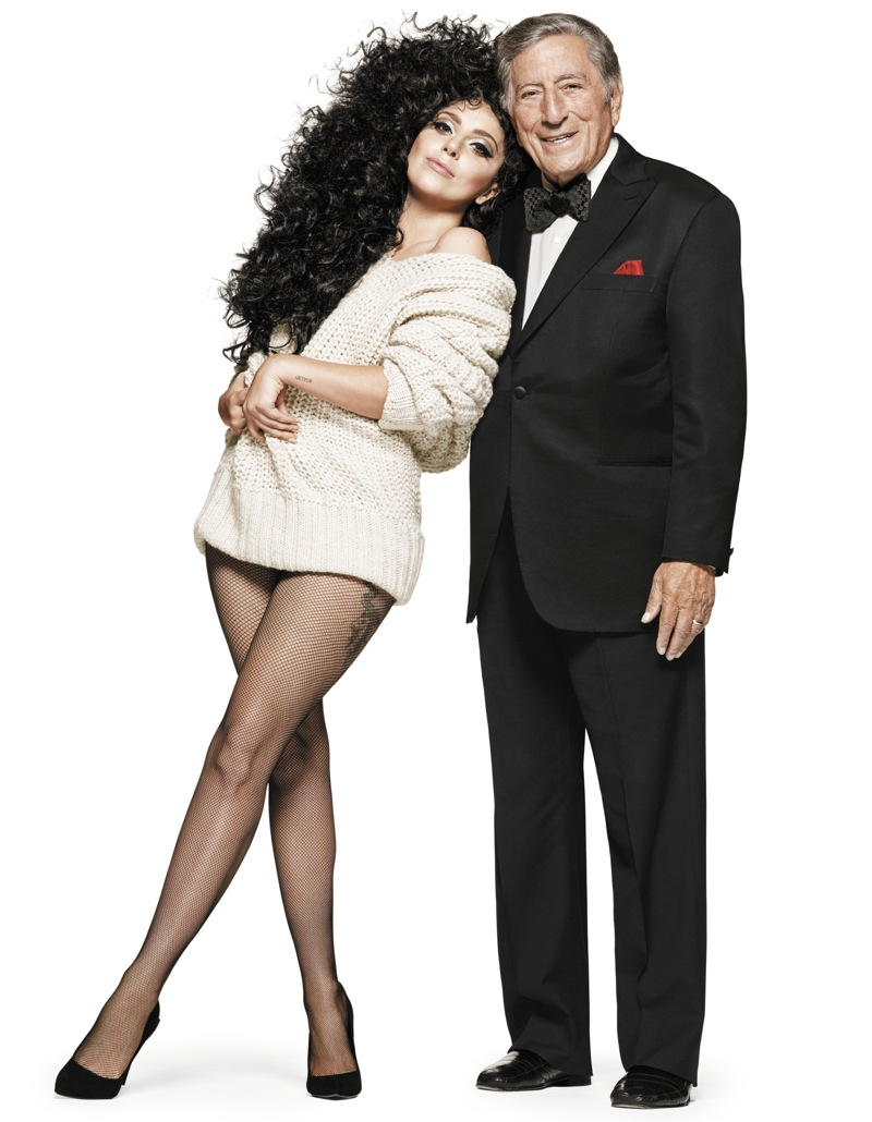 Lady Gaga and Tony Bennet in H&M 2014 Holiday Campaign 2