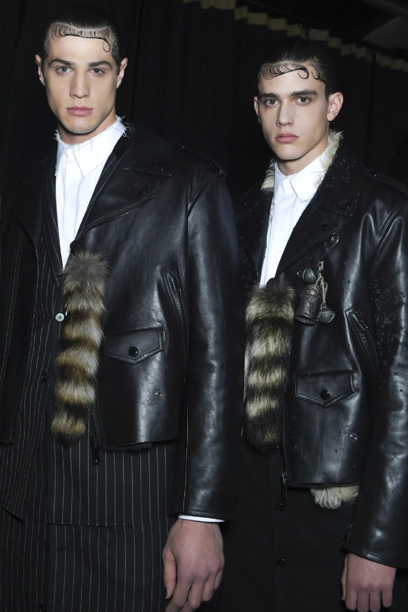 Backstage at the Givenchy Menswear Fall 2015 Show 1