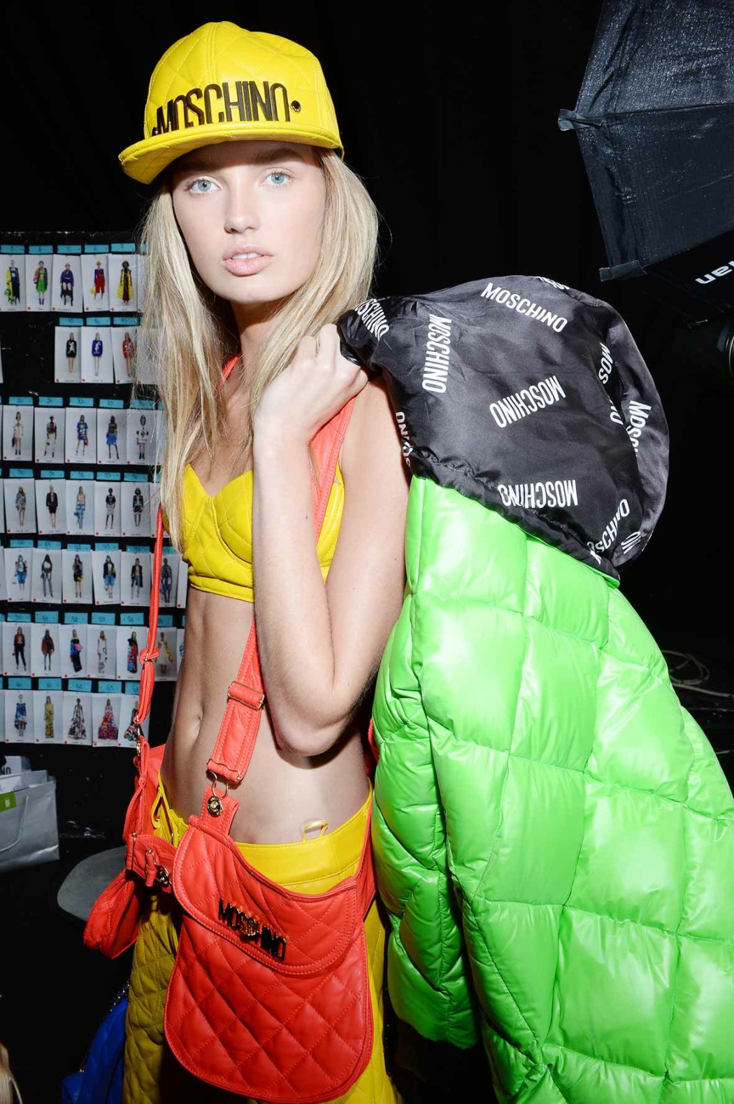 Backstage at the Moschino Fall Winter 2015 Show 15