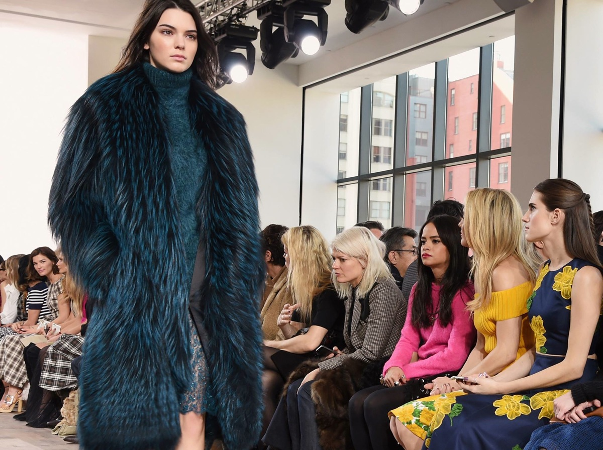 Kendall Jenner at the Michael Kors Fall 2015 Show