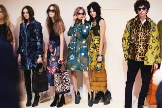 Backstage at The Burberry Prorsum Fall Winter 2015 Show 1