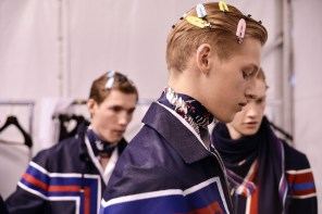 Backstage at Louis Vuitton Menswear Spring Summer 2016