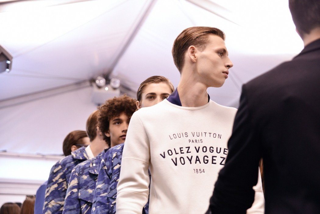 Backstage at the Louis Vuitton Menswear Spring Summer 2016 Show 10