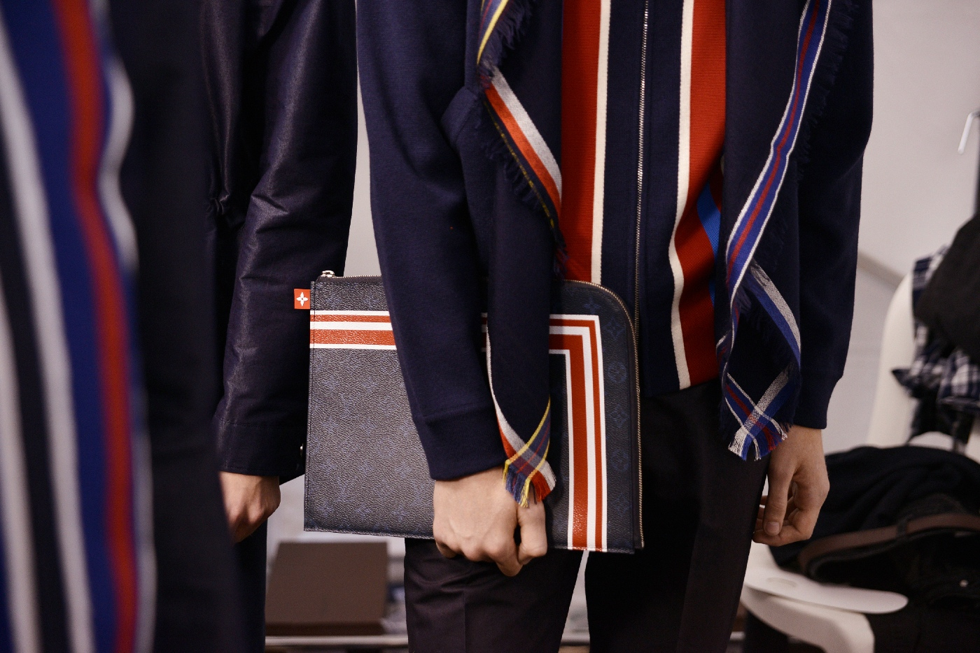 Backstage at the Louis Vuitton Menswear Spring Summer 2016 Show 56