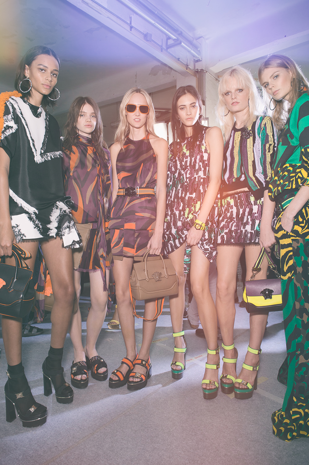 Backstage at the Versace Spring Summer 2016 Show 4