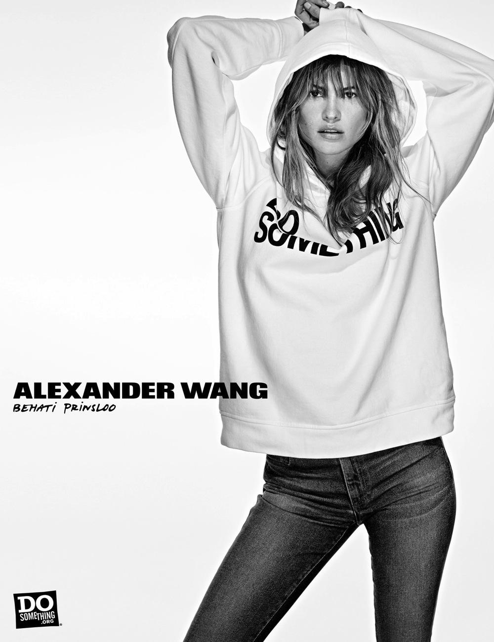 Behati Prinsloo wears Alexander Wang x DoSomething