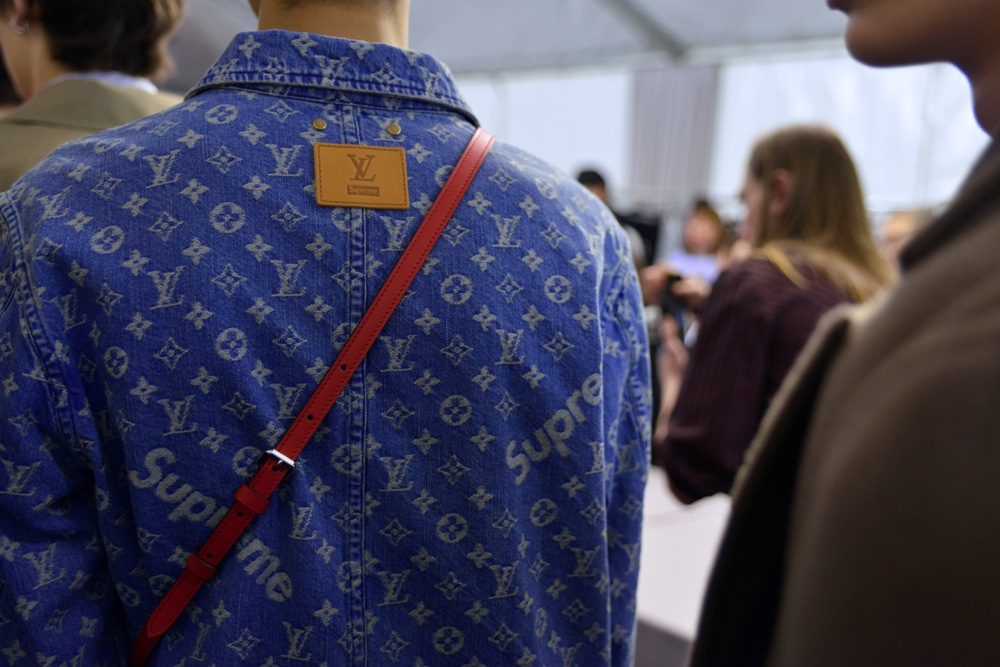 Backstage at Louis Vuitton x Supreme Fall Winter 2017 Show 44