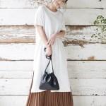 30代女性に人気の大人可愛いレディースファッション通販。春夏の着回しコーデ2019【丈が選べるジョーゼットプリーツスカート】