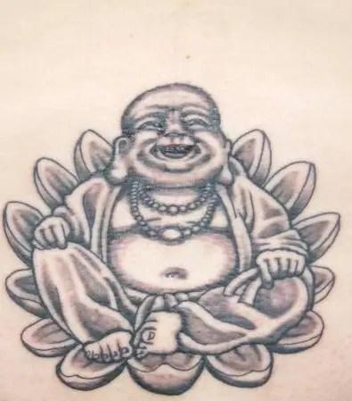 Laughing Buddha Tattoo Art