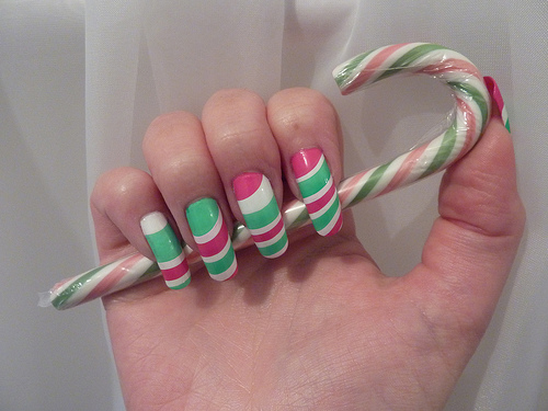 Marble Nail Art In Celebrating