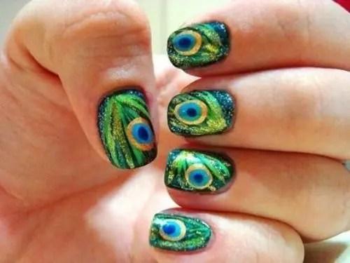 Beautiful Peacock Nail Art Designs 6