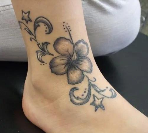 Lily Tattoo On Foot