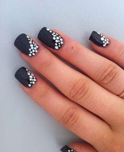Black And White Nail Art2