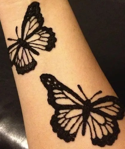 Black Colour Butterfly Design