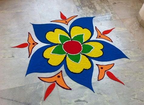 Latest Rangoli Designs Simple Rangoli Design