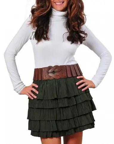 Brown Women Stretch Belt