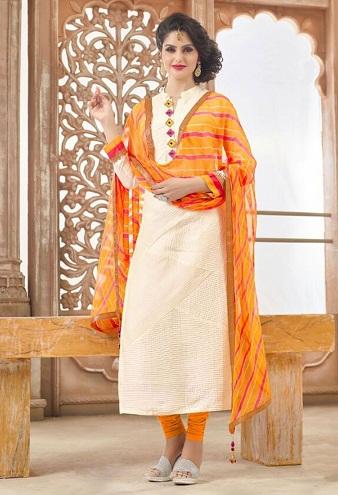 Indian Bandhej Salwar Suit
