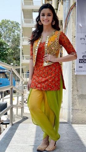 Traditional Mirror work Koti on Patiala Salwar Suit