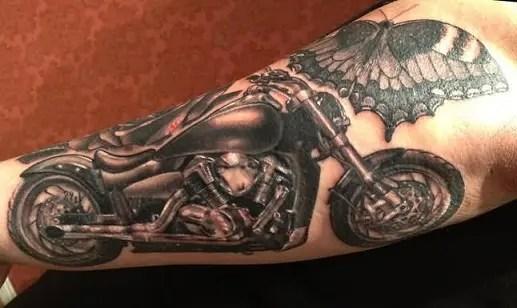 Amazing Motorcycle Tattoo Design