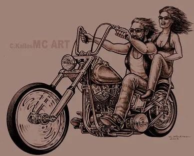 Vintage Biker Tattoos Design
