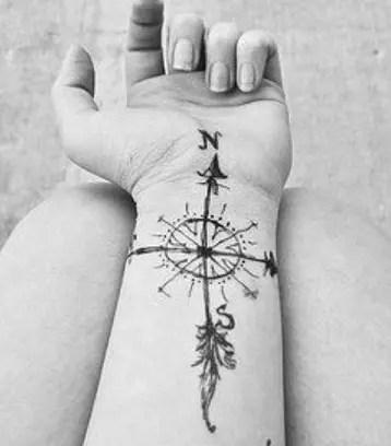 Compass Rose Pattern sailor tattoo