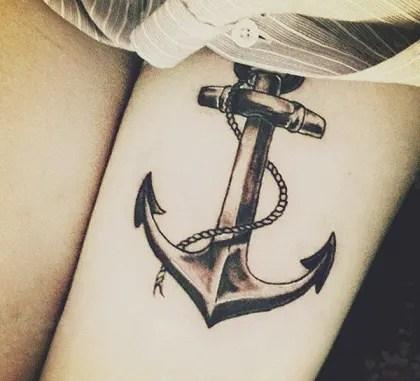 Sailor anchor type tattoos