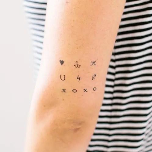 Scattered Minimalist Tattoo Design - Minimalist Tattoos