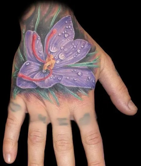 Lily Hand Tattoos