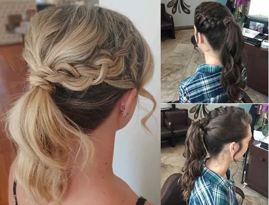 braid hair style girl for college