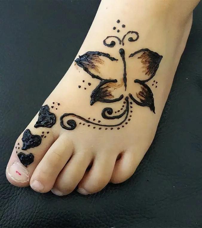 Butterfly Mehendi