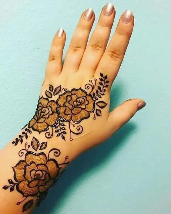 Floral Back Mehendi Designs