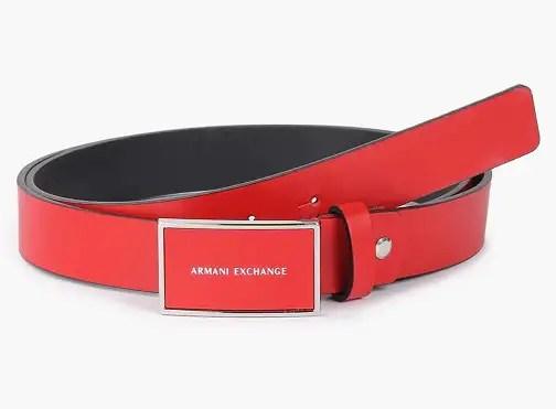 Women's Red Armani Belt