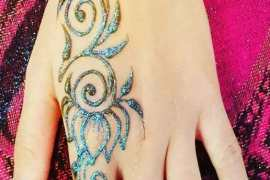 Glitter Henna Mehndi Designs for 2018