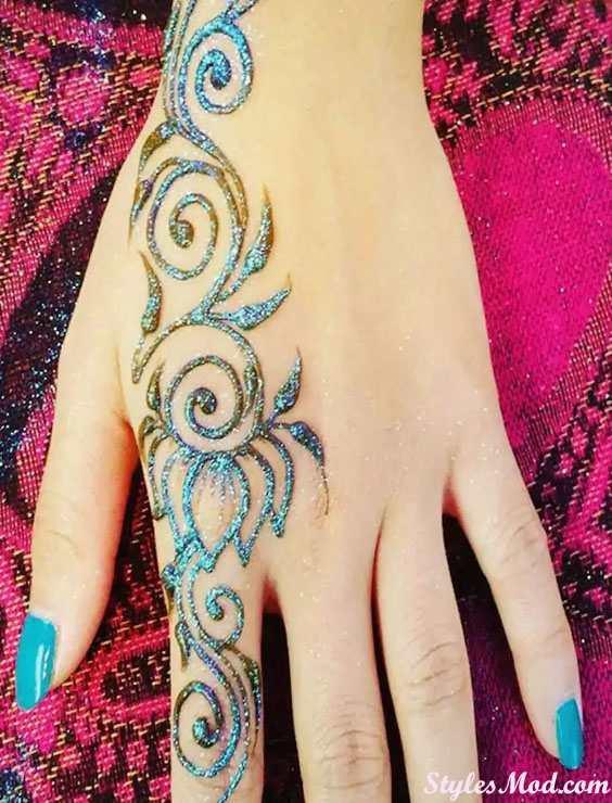 Glitter Henna Mehndi Designs