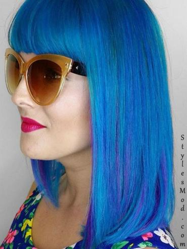Blue Hair Color Looks & Styles
