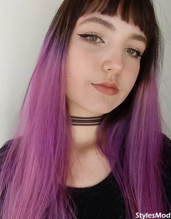 Black to Purple Hair Color Ideas