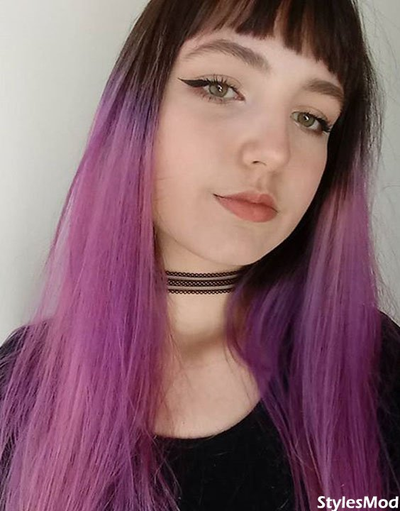 Black to Purple Hair Color Ideas