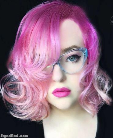Magenta Light Pink Hair Color Ideas
