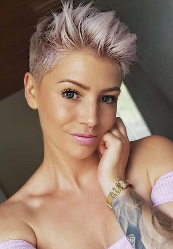 Short Pixie Haircuts & Hair Colors in 2018