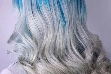 Silver Blue Hair Color Ideas in 2018