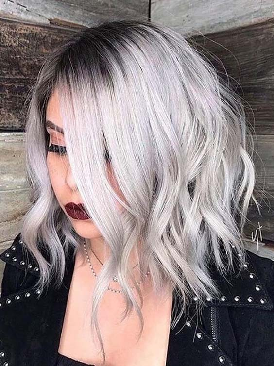 Awesome Silver Lob Hairstyles & Haircuts to Try in 2018   Stylesmod