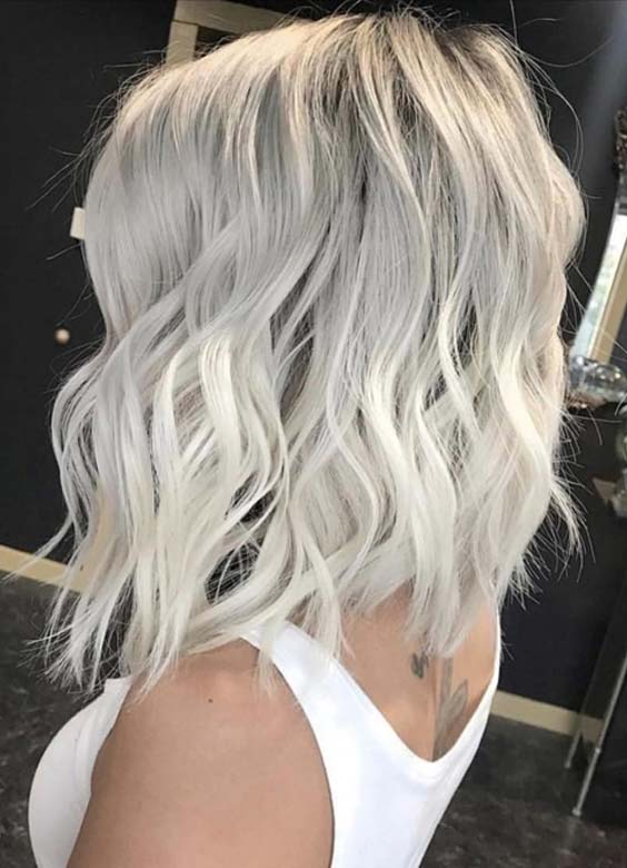 Stunning Ice Blonde Hair Color Trends for 2018