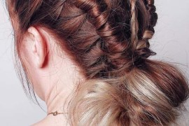 Super Gorgeous Braids with Low Bun Styles in 2018
