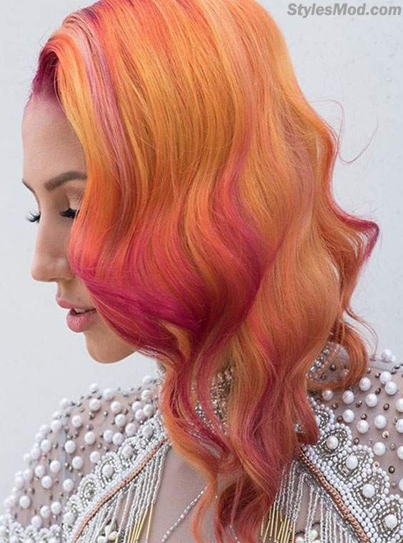 Lovely Bright Orange Hair Color Idea