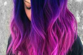 Great Combination of Blue To Pink Hair Color Highlights for 2018