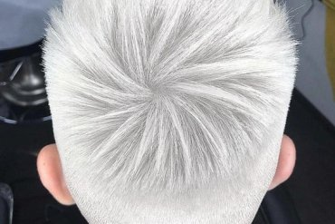 Superior Look of Pure White Men's Short Hairstyles for 2018
