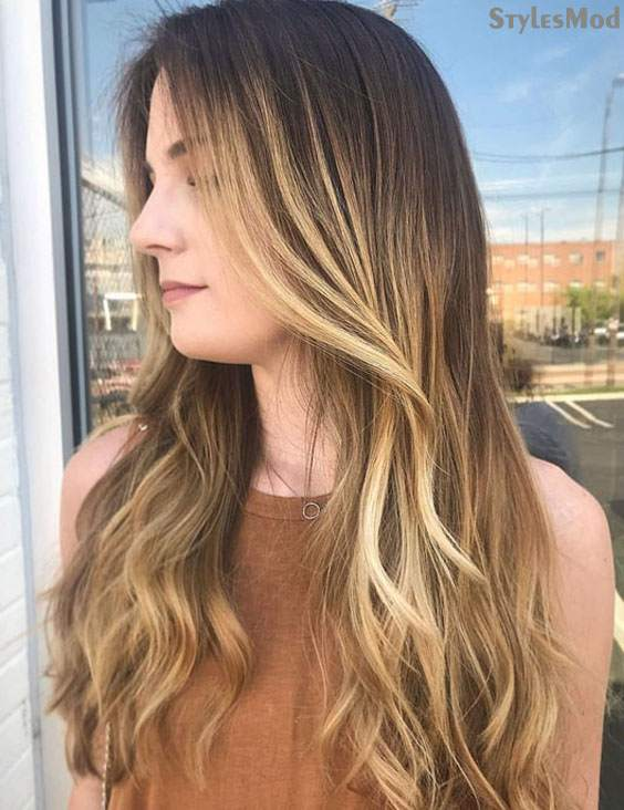 Amazing Long Blonde Balayage Highlights For Women In 2018 Stylesmod